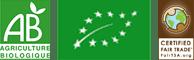 Logos Agriculture biologique et commerce équitable logo La Maison du coco