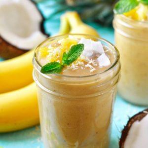 Smoothie aux fruits et noix de coco recettes La Maison du coco