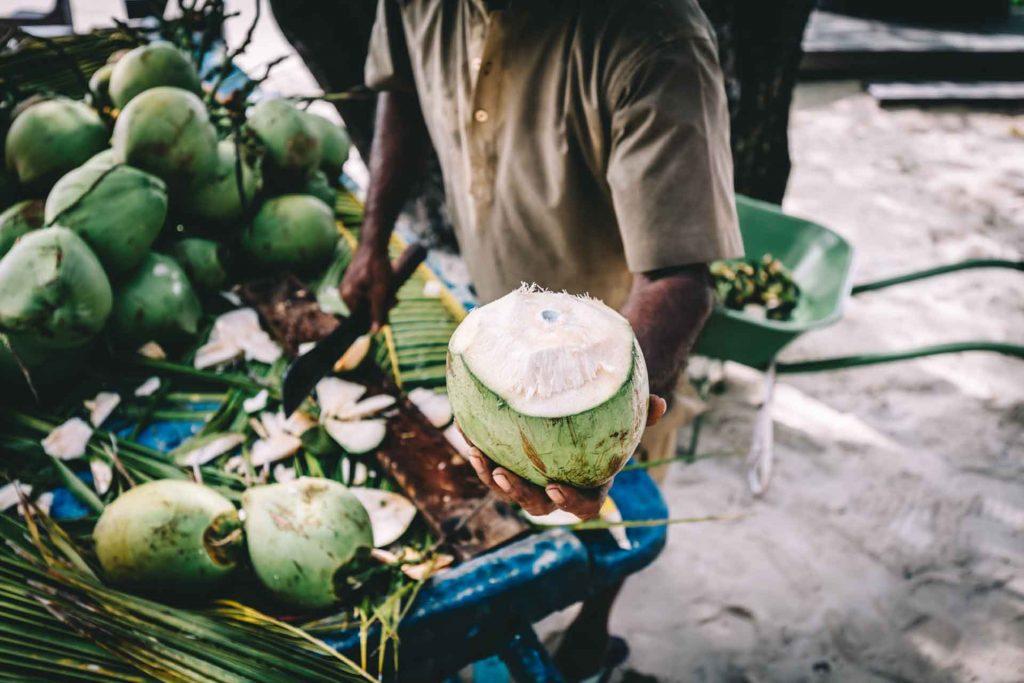 Fabrication eau de coco produit La Maison du coco by Michal collection