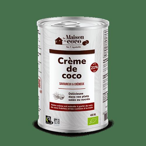 photo Crème de coco bio 21% de matières grasses produit La Maison du coco