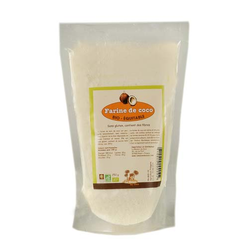 Farine de coco bio 250 g produit La Maison du coco