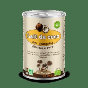 photo Lait de coco bio 6% de matières grasses produit La Maison du coco