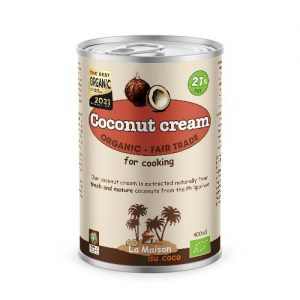 Organic coconut cream 21% fat La Maison du coco