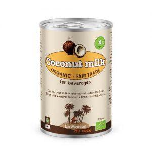 Organic coconut milk 6% 400ml fat La Maison du coco